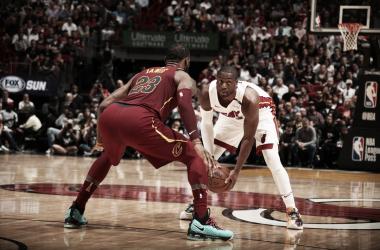 Dwyane Wade e LeBron James. Fonte: NBA/Twitter