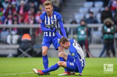 L'Hertha riesce ad uscire dall'Allianz Arena senza subire gol. Foto: Twitter Bundesliga English