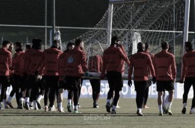 La plantilla coruñesa prepara el duelo frente al Mallorca // RCDeportivo