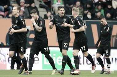 L'esultanza dei giocatori dello Stoccarda. Foto: Twitter Bundesliga English