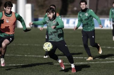 Los Jugadores txuri urdin preparándose para la semifinal / Foto: Real Sociedad