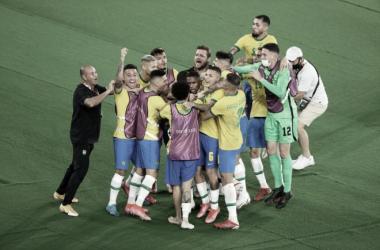 Brasil, bicampeona olímpica de fútbol masculino | Fotografía: Tokio 2020