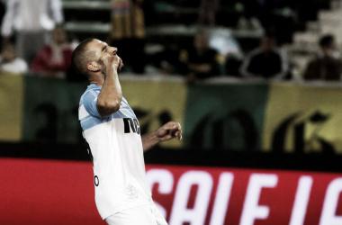 """Licha López festejando el segundo gol de la """"Academia"""". Foto vía: Twitter @ElMetodoRacing"""
