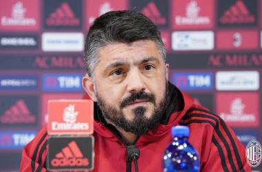 Bonaventura ha sfiorato il gol in questa circostanza oggi, ma l'Arsenal si è salvato. | AC Milan, Twitter.