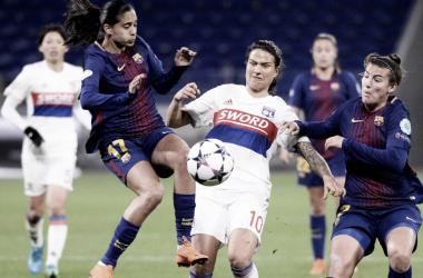 No jogo mais aguardado da semana, Lyon vence Barcelona na Champions League Feminina (Foto: Divulgação/Lyon)