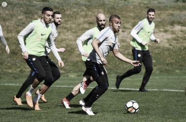 Allenamento in vista della Sampdoria | TWITTER @Inter