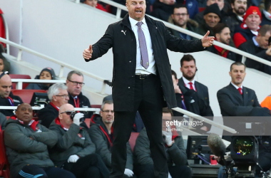Sean Dyche wasn't happy with the officiating after his side's defeat to Arsenal. PICTURE: GettyImages, NurPhoto.