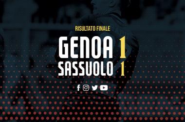 Serie A-Pareggio che non soddisfa nessuno. 1-1 tra Genoa e Sassuolo
