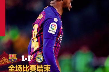 Coppa del Re - Malcom risponde Vazquez: 1-1 tra Barcellona e Real Madrid