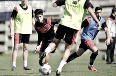 Fernando Macías durante un entrenamiento | Fotografía: Rayo Vallecano S.A.D.