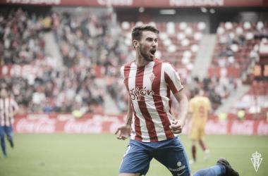 """Moi Gómez:""""Tenía muchas ganas de marcar en el Molinón"""""""