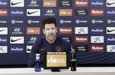 Diego Pablo Simeone en rueda de prensa / Twitter: Atlético de Madrid