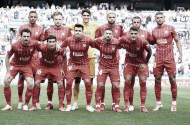 XI del Sevilla en el Reale Arena. -SevillaFC