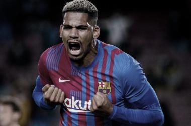 Araujo, goleador en el Camp Nou | Foto: fcbarcelona.es