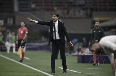Inzaghi en el partido frente al Madrid. Fuente: Inter