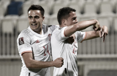 España se mantiene en la cima del grupo B camino a Qatar 2022 | Fotografía: UEFA