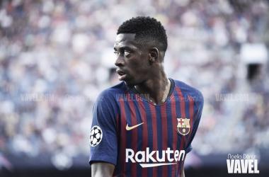 Ousmane Dembélé en un partido de UEFA Champions League | Foto de Noelia Déniz, VAVEL