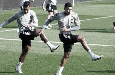 Tapia y Murillo en un entrenamiento. | Foto: RC Celta.