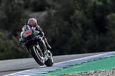 Fabio Quartararo en los entrenamientos de Jerez | Fuente: Twitter Oficial del piloto