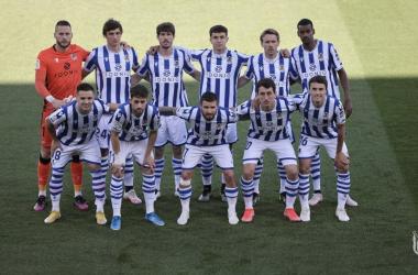 Once de la Real Sociedad en el Alcoraz. Foto: Real Sociedad.
