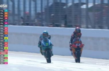 Gp Aragon: Pazza Moto3. Per terra Acosta e Garcia, vince Foggia