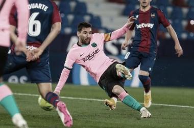 Messi, en el primer gol del Barcelona | Foto: fcbarcelona.es