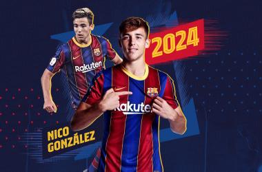 Imagen del anuncio de la renovación del jugador | @FCBarcelonaB en Twitter