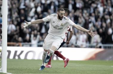 Benzema se reencuentra con el gol y supera a Luis Aragonés