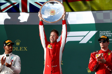 El podio del Gran Premio de Australia 2018. Foto: F1.