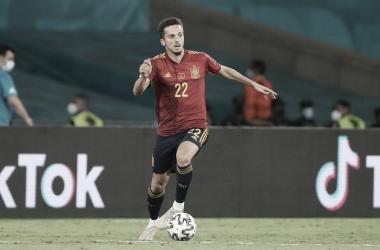 Pablo Sarabia en el empate ante Suecia / FOTO: Selección Española