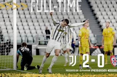 Serie A, una grande Juventus batte il Cagliari 2-0