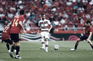 Bruno Fernandes versus España/ Foto: Bruno Fernandes