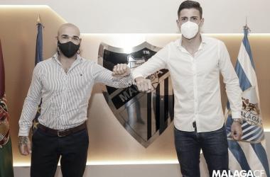 Manolo Gaspar y Pablo Chavarría / Foto: Málaga CF