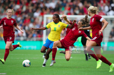England women 1-2 Brazil women: Lionesses fail to make chances count