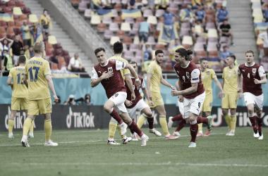 Baumgartner celebrando el único gol del partido / Foto: UEFA