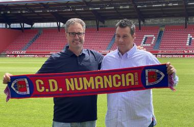 Arturo Guerra y Diego Martínez. Imagen: CD Numancia