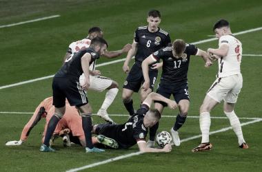 <div>Inglaterra gozando de su última ocasión clara</div>Twitter: EURO2020
