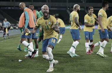 Neymar celebrando el 1-2 / FOTO: Copa América