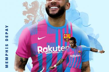Memphis Depay, nuevo jugador del Barça. | Montaje: FC Barcelona