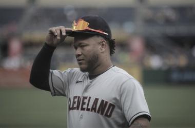 Harold Ramírez conectó por primera vez dos jonrones en un mismo juego en la MLB Foto: Indians Beisbol Twitter