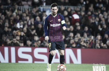 Leo Messi en un partido de UEFA Champions League durante la temporada 2018/19 | Foto de Noelia Déniz, VAVEL