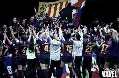 Celebración del pase a la final de la UEFA Women's Champions League | Foto de Noelia Déniz, VAVEL