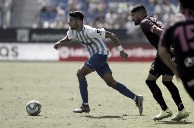 Imágen del encuentro entre Málaga y Sporting/ Fto: malagacf.com