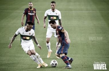 Leo Messi durante el encuentro ante el Elche | Foto: Noelia Déniz - VAVEL
