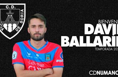 Ballarín ha sido la última incorporación del cuadro de Diego Martínez. Imagen: Numancia.