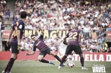 Arturo Vidal y Munir El Haddadi en el Trofeo Joan Gamper | Foto de Noelia Déniz, VAVEL