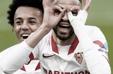 En-Nesyri celebrando el gol | Foto: Sevilla FC