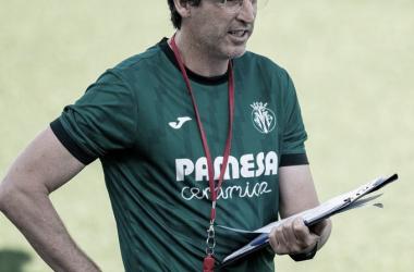Unai Emery en uno de los primeros entrenamientos de la temporada. | Imagen: @VillarrealCF