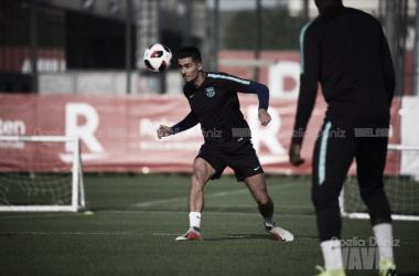 Juan Brandáriz durante el entrenamiento | Foto de Noelia Déniz, VAVEL