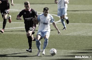 Imagen del último encuentro entre el Tenerife y el Málaga / Fuente: Málaga CF